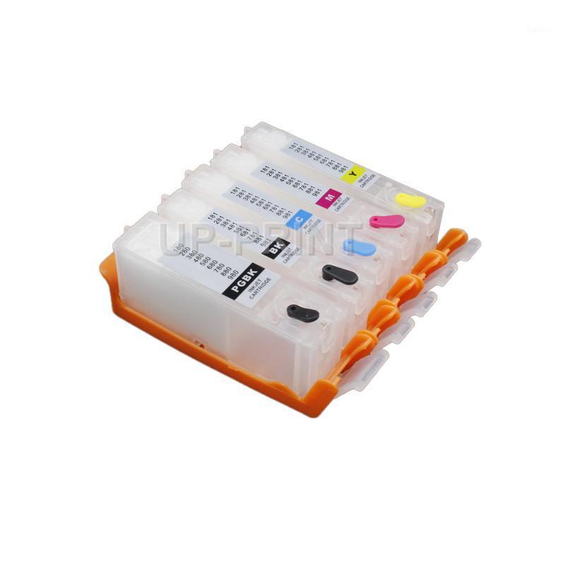 حتى PGI-680 CLI-681 خرطوشة الحبر إعادة الملء مع رقاقة دائمة لكانون Pixma TS8160 TS6260 TS6260 TS6365 TS6365 TS706 PGI6801