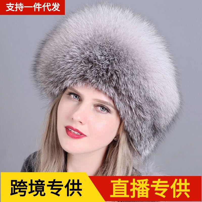 O inverno das mulheres da raposa engrossou a proteção morna do ouvido da orelha do vento e da moda da neve