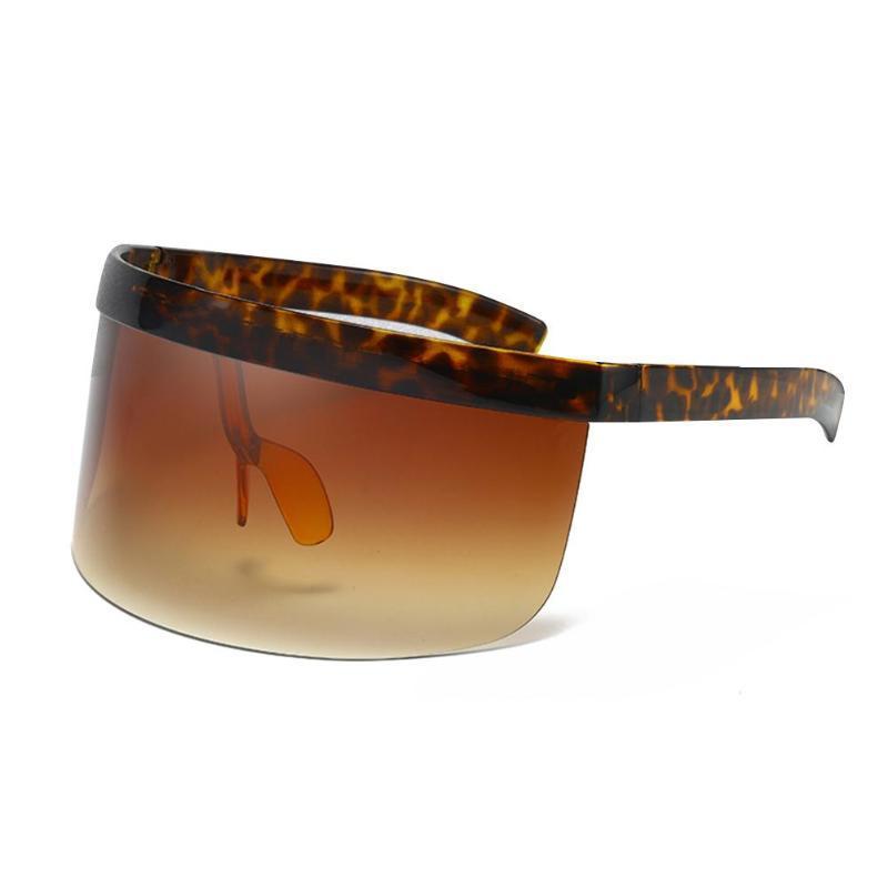Sonnenbrille Mode Übergroße Schild für Frauen Männer Goggle Sonnenbrille Großer Rahmen Visier Winddicht