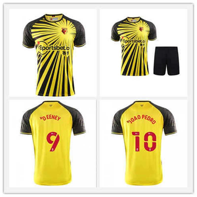 Neue 2021 Watford Soccer Jerseys Wilmot Sema Cleverley Sarr Pedro Chalobah Custom 20 21 Watford F.C. Home Yellow erwachsene Kinder Fußballhemd