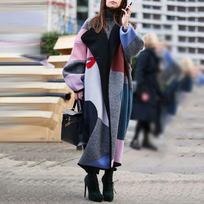 SYMP Yeni Sonbahar Tüvit Kış Retro Tek Göğüslü Ekose Ve Ceket Yüksek Bel Kısa Yün İki Parçalı Set Bayan039; S Etek Etek Setleri