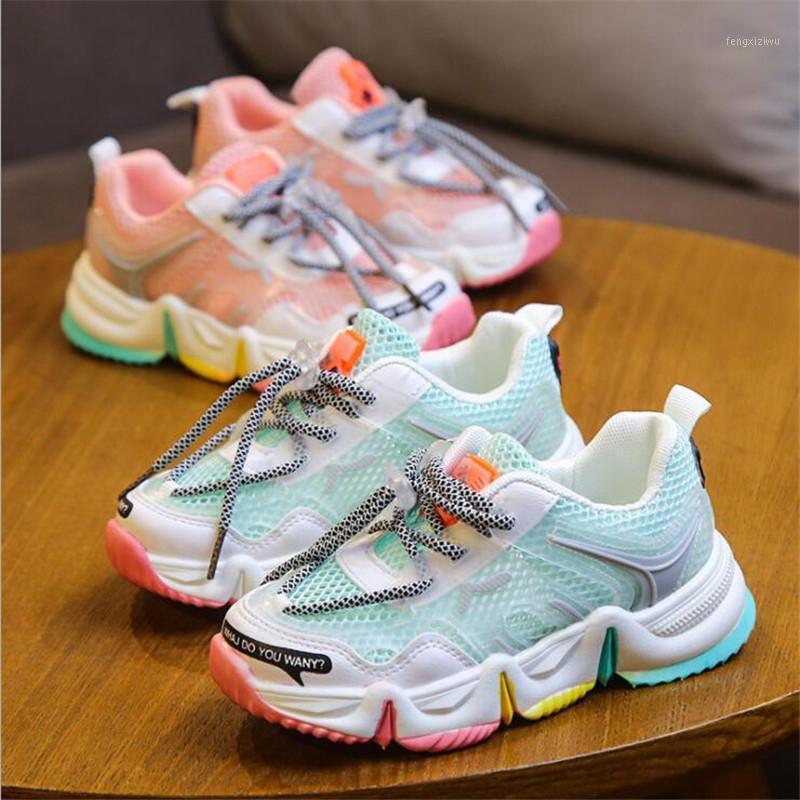 2020 nova primavera / outono crianças sapatos unisex toddler meninos meninas sapatilhas malha respirável moda casual crianças sapatos tamanho 26-361