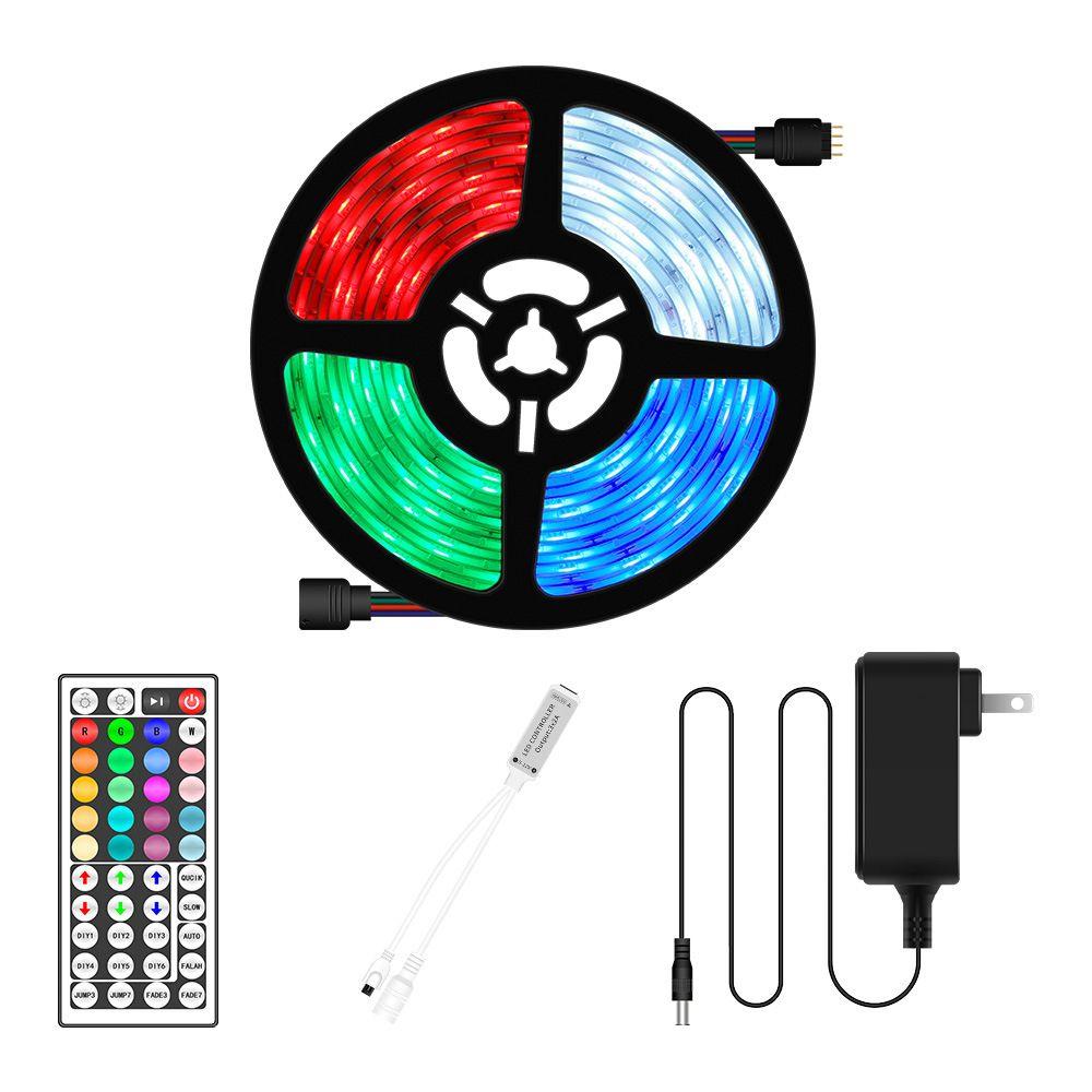 12V RGB LED Remote Control Strip Light Lamp 5050SMD Flexible Ribbon 5M 10M 15M 20M Indoor Decorative Waterproof TV Desktop Screen lighting