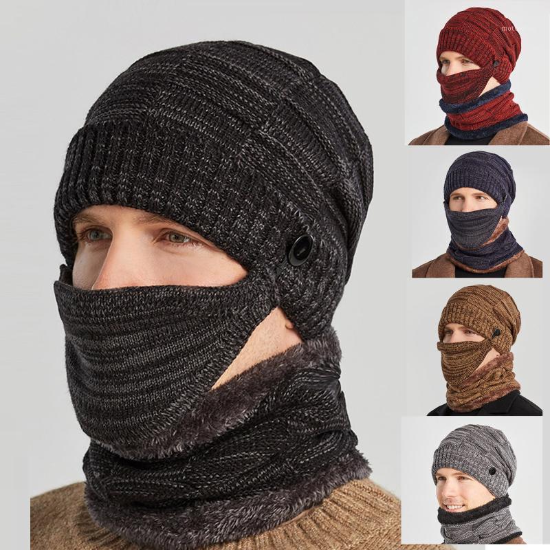 القبعات، والأوشحة قفازات مجموعات الشتاء يندبروف سميكة قبعة محبوك قبعة في الهواء الطلق الدافئة ركوب الدراجات قناع الأذن الصوف دفئا خوذة دائم بما فيه الكفاية العلامة التجارية # 351