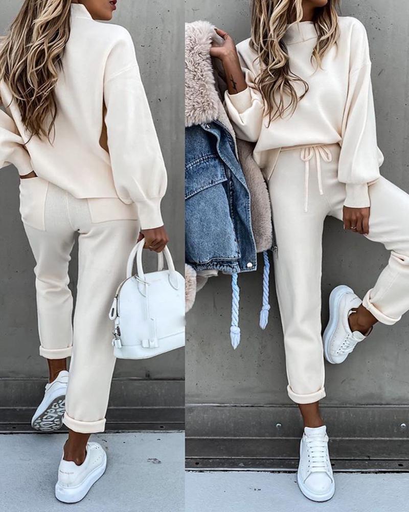 Kış Sonbahar Iki Parçalı Set Eşofman Kadınlar Kadife Artı Boy Tişörtü Chandal Mujer Invierno Rahat Femme Takım Elbise Pantolon C1103 Tops