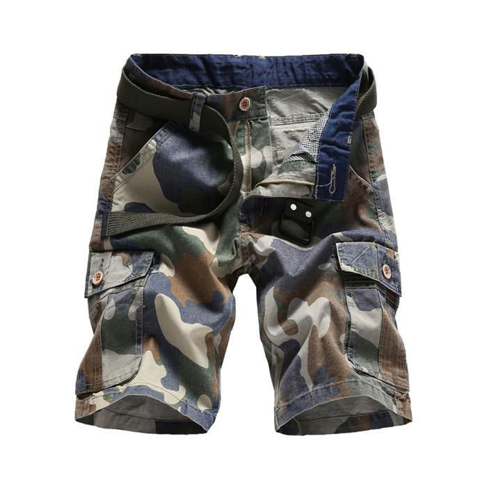 2020 Coton Mens Shorts Mode camouflage Shorts Homme multi-poches Casual Camo extérieur Pantalon Homme court Tolling, 0113