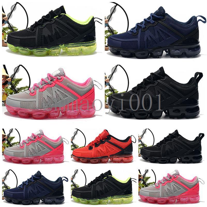 Nike air max airmax vapormax 2019 2020 Nouveau bébé tricot pour enfants portable Chaussures de course pour enfants 2018 Coussin KPU sport Chaussures Garçons et Filles de fo