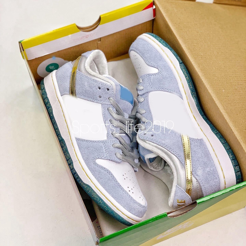 2020 Pre-vendita Sean Cliver Dunks Basso Mens Running Shoes Pizzo d'Oro argento satinato Womens Grey Dunk Skate Sport Sneakers con la scatola