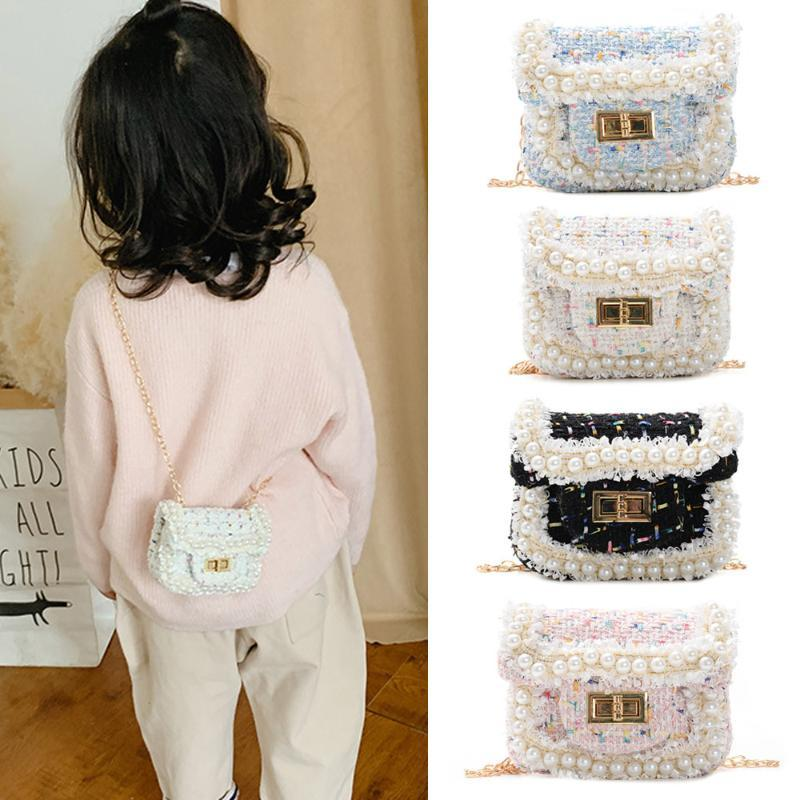 Enfants Mini et sacs à main 2020 mignon Woollen filles Sac bandoulière bébé piécette Wallet Pochette Party Girl bourse cadeau