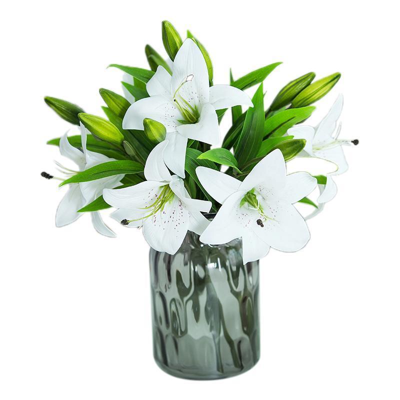 10 шт. Красочная артефикационная лилия цветок букет шелковый цветок для DIY свадебный праздник праздник вечеринка домашняя комната декор