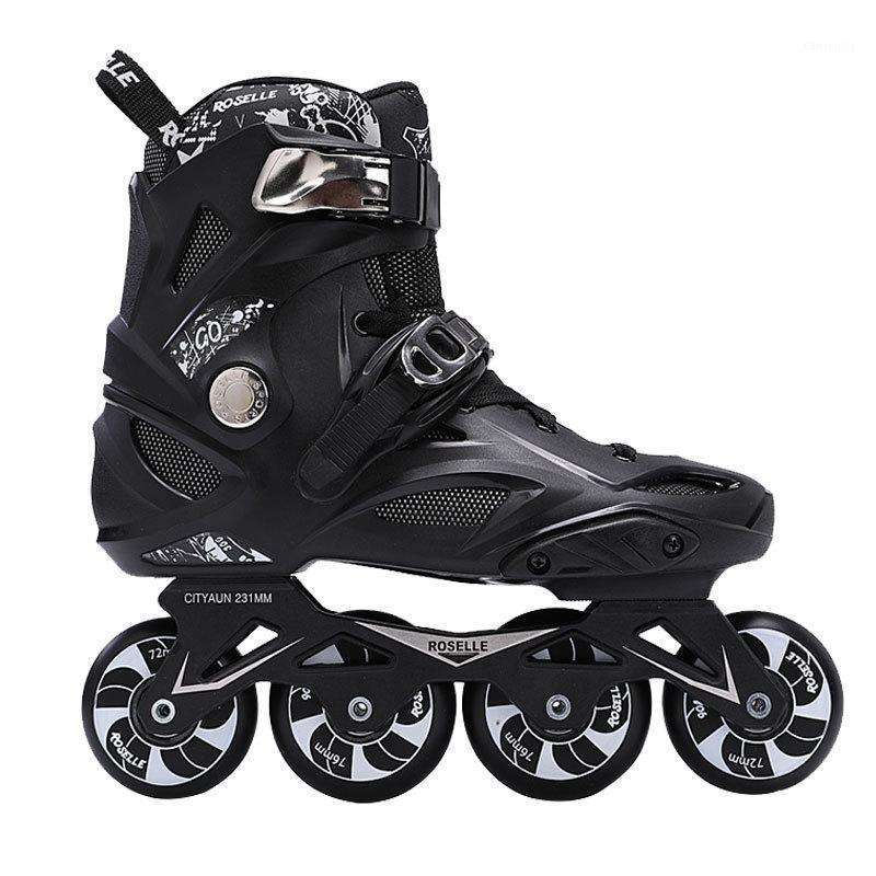 Hommes et femmes en ligne Skates à 4 roues Skates à 4 roues Chaussures Rouleaux adultes Skates Teens Sneakers Skips Professional Début Début Durs