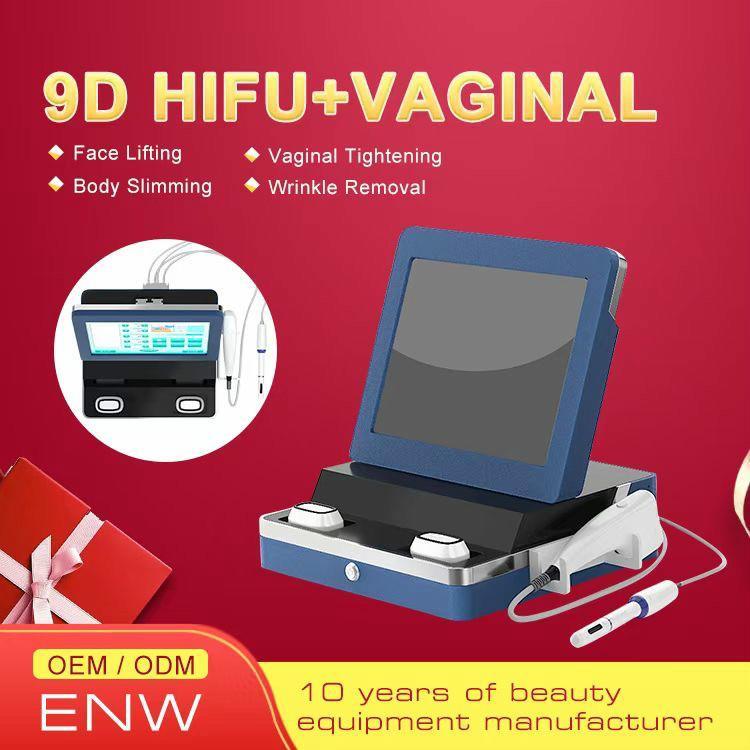 9D HIFU Ultrasound skin tightening hifu wrinkle removal vaginal rejuvenation face carving intensity focused HIFU slimming equipment