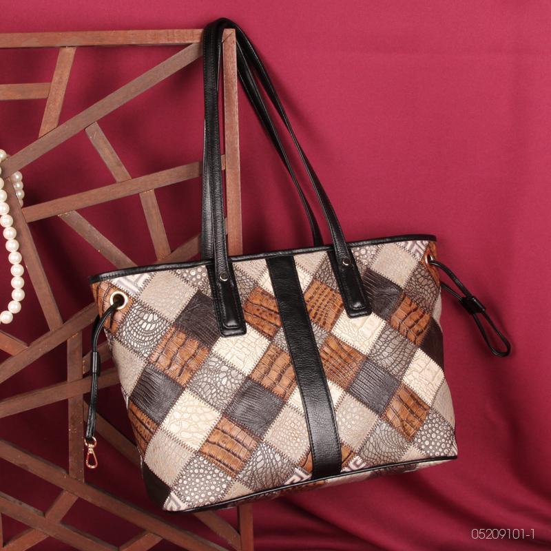 Pruebe las bolsas de mensajero del hombro de las mujeres retro de cuero genuino dama hembra bolso mujer estilo vintage bolsa de mano 12060310-1