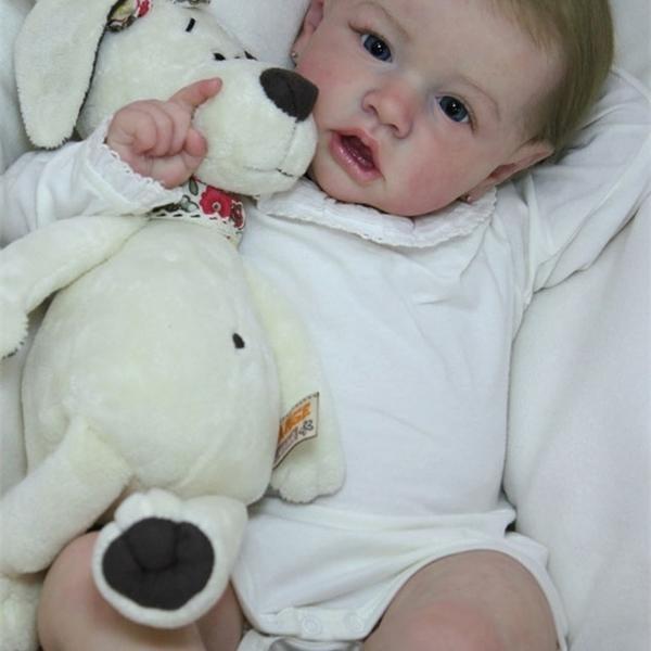 NPK DIY Kiti Reborn Popüler Facesaskia Bebek Kiti Çok Yumuşak Gerçek Dokunmatik Taze Renk Boyasız Bitmemiş Bebek Parçaları 1011