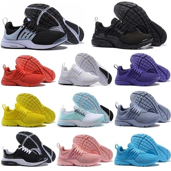 2021 Presto BR QS respirare scarpe da corsa triple nero bianco rosa emhuly cumulus mens prestos formatori moda camminata corridore sneakers sportivi