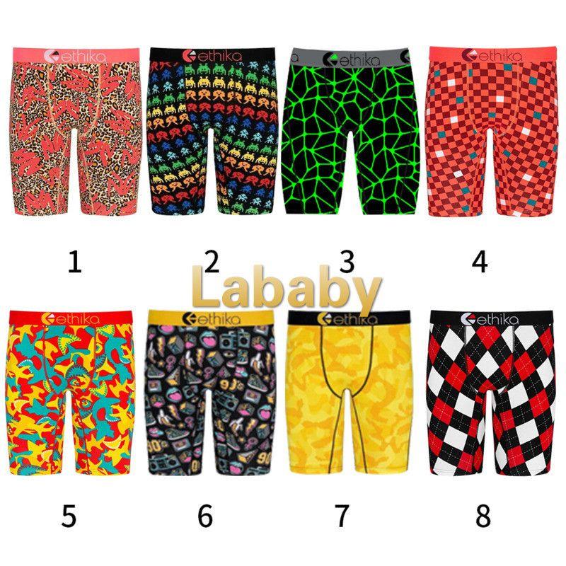 Ethika Fashion Mens Swimwear Ethika Shorts Trendy Leopard Print Short Pants Boxer Men Quick Dry Briefs Shorts Sports Beach Swimsuit Clothes