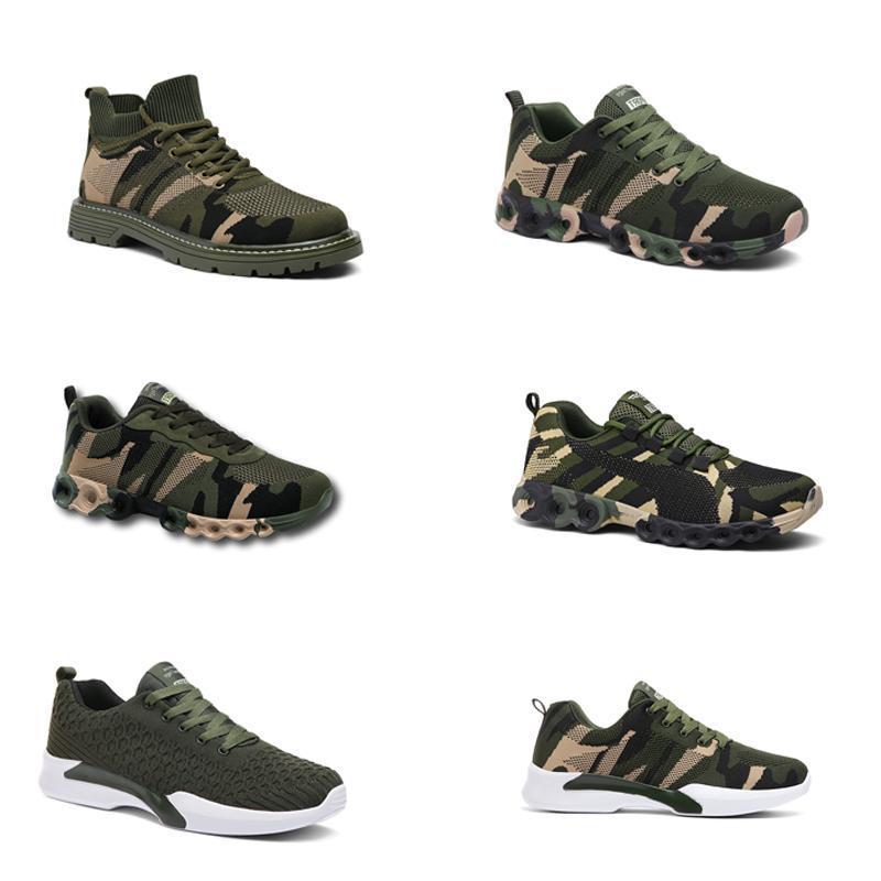 2020 No-Brand Hotsale Дизайнерская обувь Мужчины Женщины кроссовки камуфляж Army Green Открытый тренер СИЭЗ 36-44 Style 307