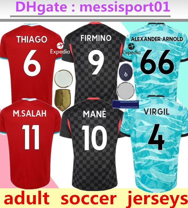 Maglia da calcio LVP Liverpool Mohamed M. Salah 2020 2021 maglia da calcio 19 20 VIRGIL MANE FIRMINO KEITA MILNER SHAQIRI portiere uomo + kit per bambini