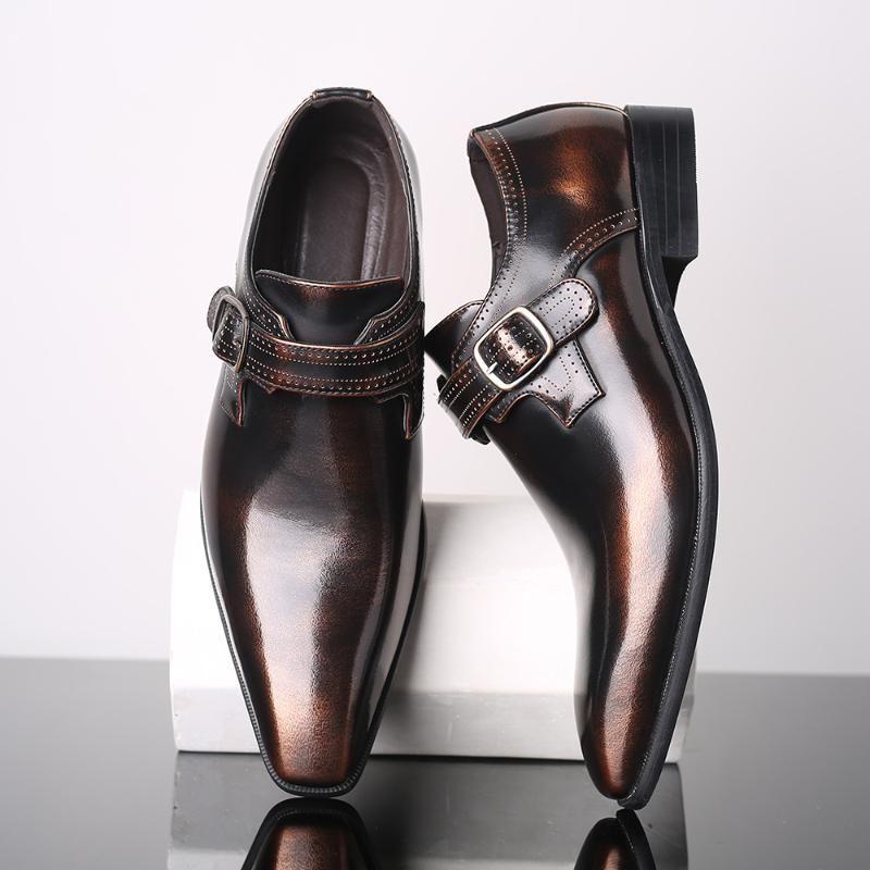 mens formal shoes Stylish business Gentleman's comfortable formal shoes men mens dress 2020