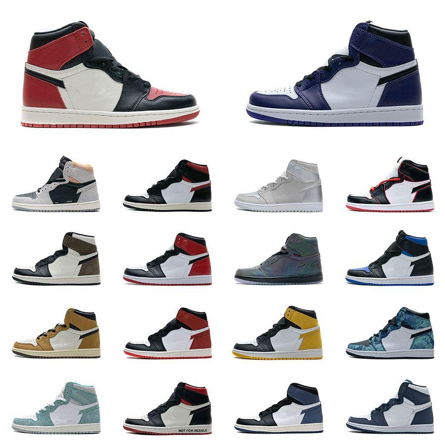 أحذية رجالي 1 كرة السلة 1 ثانية عالية أعلى مرحبا TS SP أسود أخمص القدمين