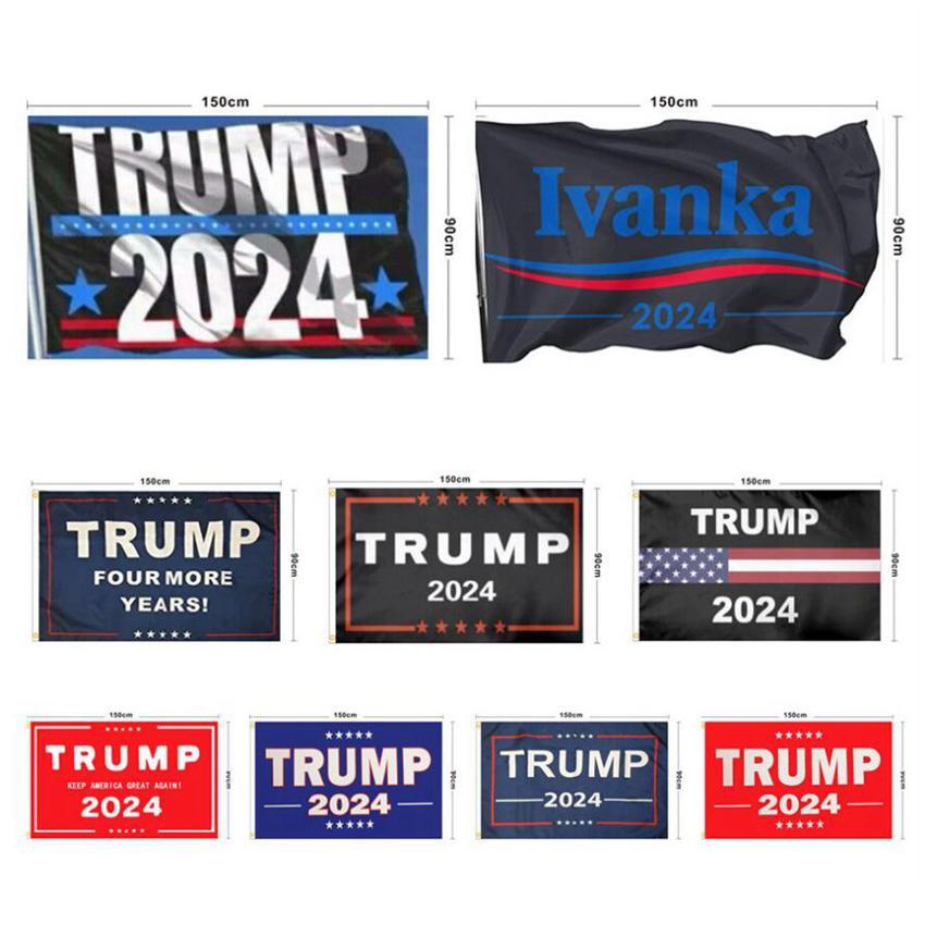 ترامب العلم 2024 العلم الانتخابات راية دونالد ترامب العلم إبقاء أعلام أمريكا مرة أخرى العظمى إيفانكا ترامب 150 * 90CM ZZA2904