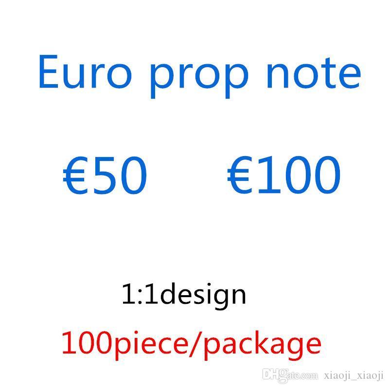 Toy Party Faux Money Kids Prop Cadeaux 50 Euro 100 Money Festive Billette Jeux de jeton Papier Copier Copie Faux Collections DMLDS