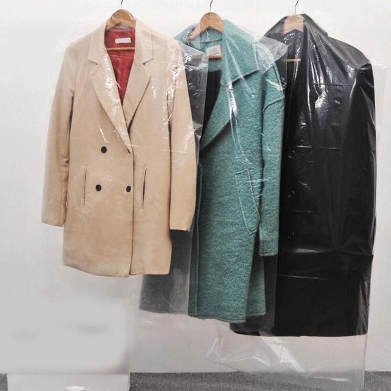 2.2 Silk Одежда пылеснаграждения Пальто костюма пыли сумка прозрачный полиэтиленовый пакет сухое хранение одноразовый очиститель гардероб висит орга W0O9