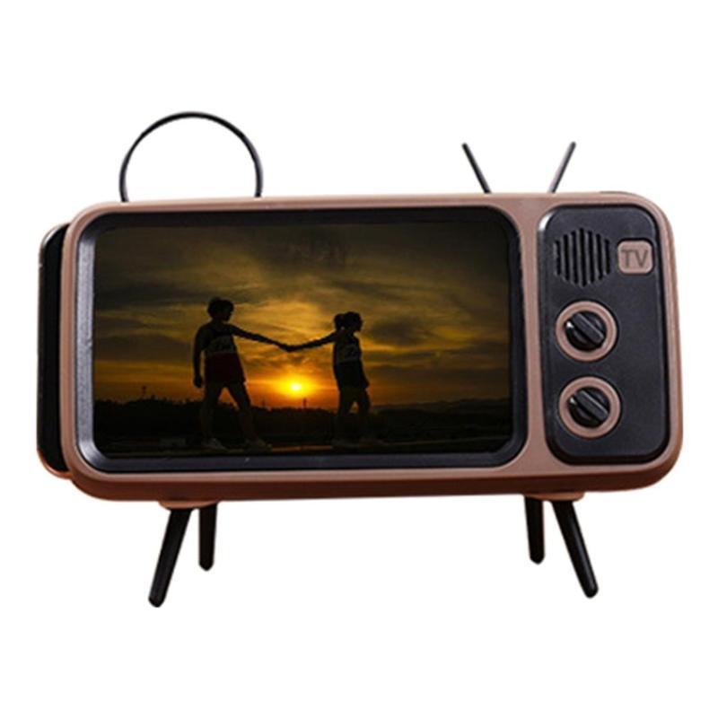 Yaratıcı PTH800 Retro TV TV Cep Telefonu Braketi Kart Kablosuz Hoparlör Açık Kablosuz Ses Profesyonel