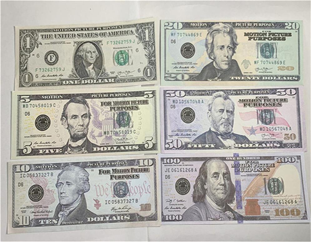 Unmarkierte Währung Gefälschte hochwertige 1: 1 Design Spiel Währung Bar Requisiten Kinderspielzeug Simulation Geld A133