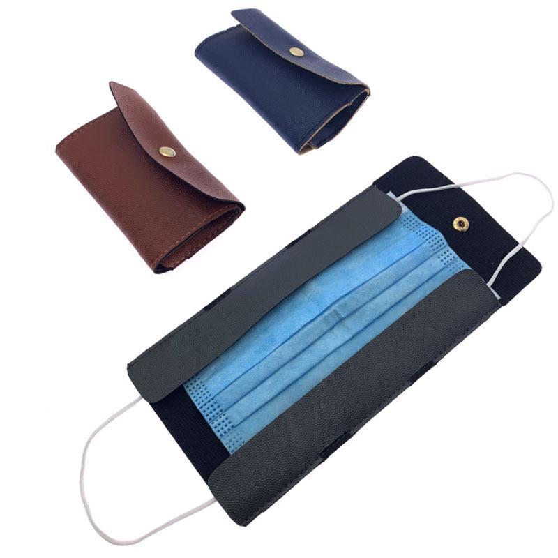 Хранение Мужская маска 3 кошелька корпус лица держатель мешки женские карты серый мешок маски прямоугольник кожа коричневый синий бизнес-оболочки 5ZL F2 SKDMH