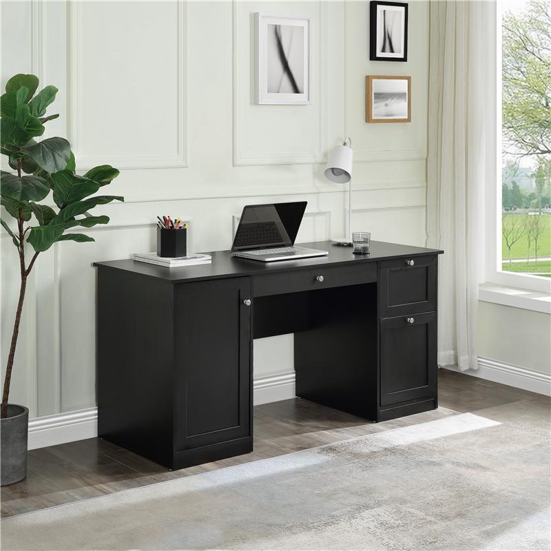 الولايات المتحدة الأسهم المنزلية مكتب أثاث الكمبيوتر مكتب مع 2 أدراج سحب لوحة المفاتيح التخزين خزانة