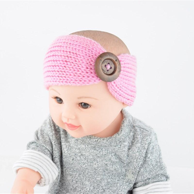Moda Bebé Donuts Hairbands Hombras de punto Hats Headbands Elástico Turbante Sólido Headwear Head Wrap ACCESORIOS ACCESORIOS
