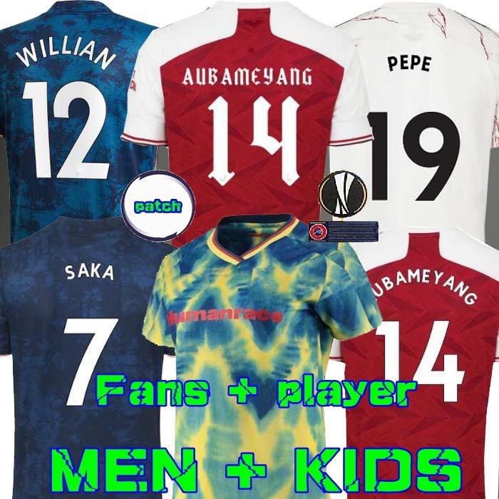 عدد المعجبين لاعب نسخة أرسين لكرة القدم جيرسي 20 21 PEPE SAKA THOMAS HENRY GUENDOUZI يليان TIERNEY 2020 2021 قميص كرة القدم عدة HRFC الرجال + الاطفال