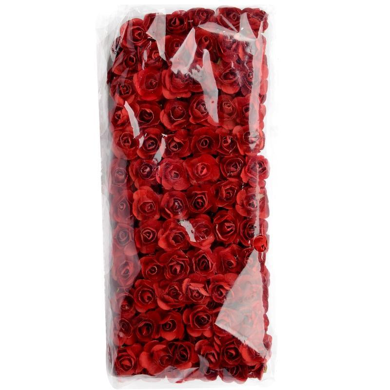144pcs Поддельного Mini Искусственной бумага роза Букет для украшения венчания Ремесленной DIY Scrapbooking Венок Craft