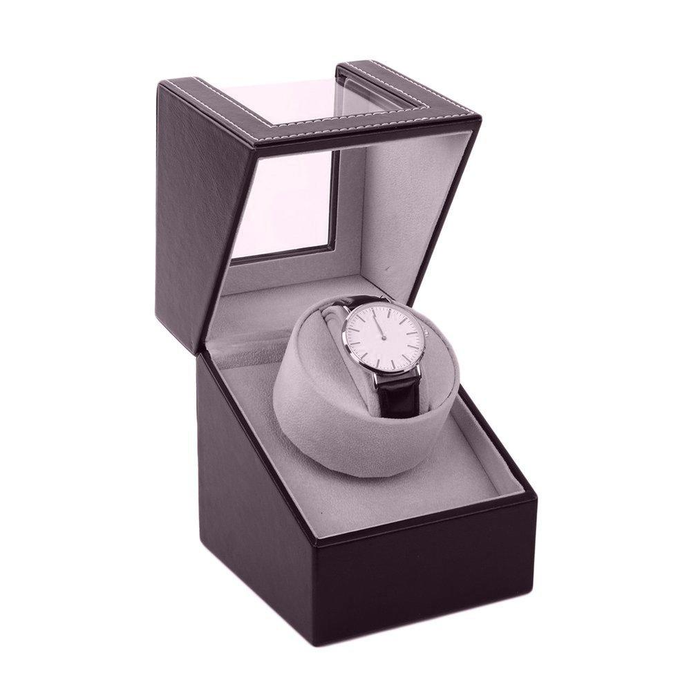 EU / 영국 / 미국 / AU 스토리지 주최자 디스플레이 관 모터 셰이커 홀더 자동 기계식 시계 와인 더 상자 와인딩 케이스 홀더 CX200807