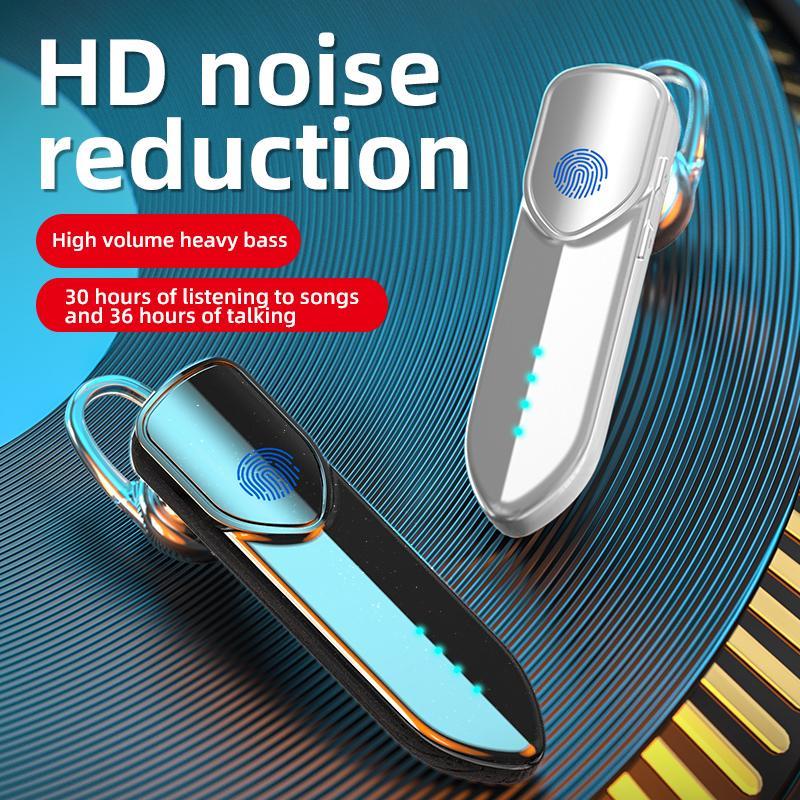 Kulak Kanca Dokunmatik Kablosuz Kulaklık İş Bluetooth Kulaklık V19S Ekran Pil Spor Kulaklık Ultra Düşük Güç HD Çağrı Uzun Bekleme
