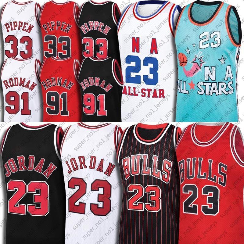Michael Jersey 91 Dennis Rodman Jerseys 33 Scottie Pippen Jersey ChicagoStierJersey Weinlese-Basketball Tar Heel Dream-Team Jersey