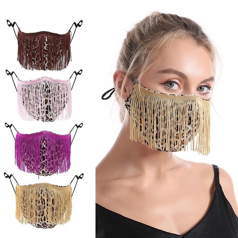 Farbquasten Frauen Mund Maske Leopard Druck Muster Einstellbare Waschbare Dame Gaze Masken Neue Ankunft 7 82JY J2