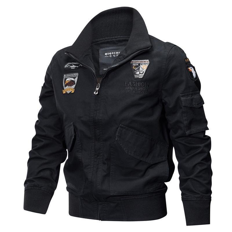 Askeri Ceket Erkekler Kış Pamuk Ceket Ordusu Pilot Ceketler Hava Kuvvetleri Kargo Ceket Askeri Uçuş Dış Giyim Sonbahar Slim Fit 201104