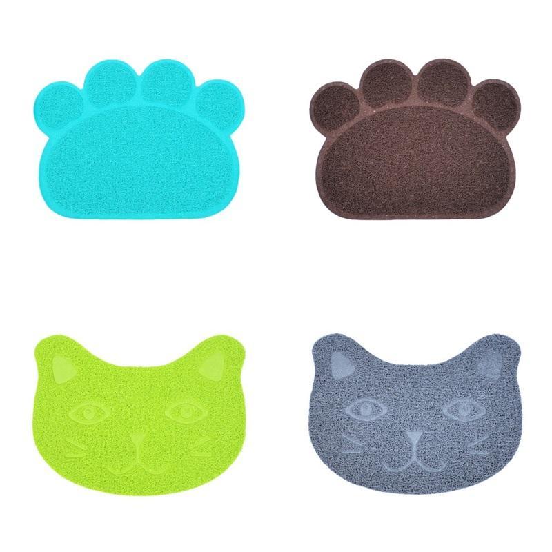 Haustier PVC Matten Rutsch Rutsch 30 * 40 cm Hundekatze Feste Farbe Anti Katzen Schleifen Wurf Matte Becken Versorgung reiben Füße Pad 3 6JN M2