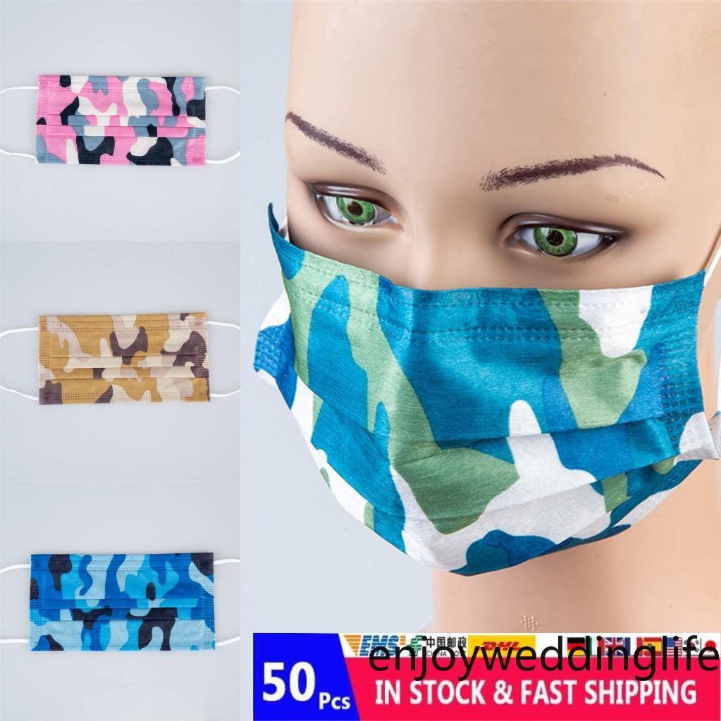 2021 Modedesigner Weihnachten Einweg-Gesichtsmaske Erwachsene Neujahr Com Einweg Drei-Schicht-Schutz verdickte Partei Maske FY0112