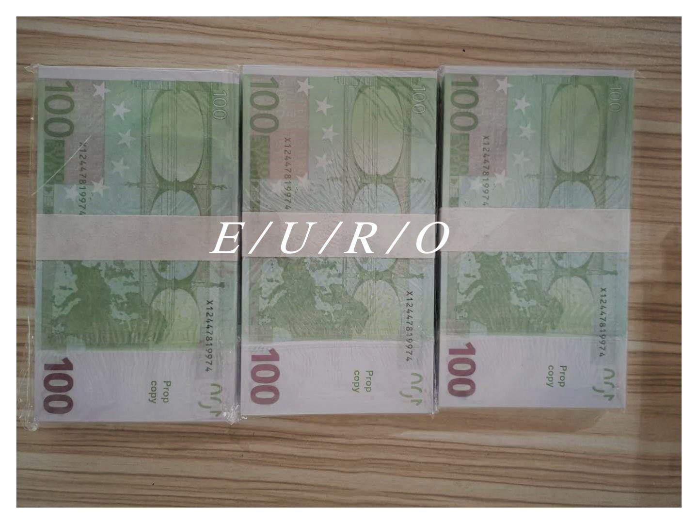 Heiße Verkäufe gefälschtes Geld Filme prop Banknotenzählmaschine prop Geld Festive Gesellschaftsspiele Geschenke euro100 / 20 US-Dollar / 100dollars E12d1