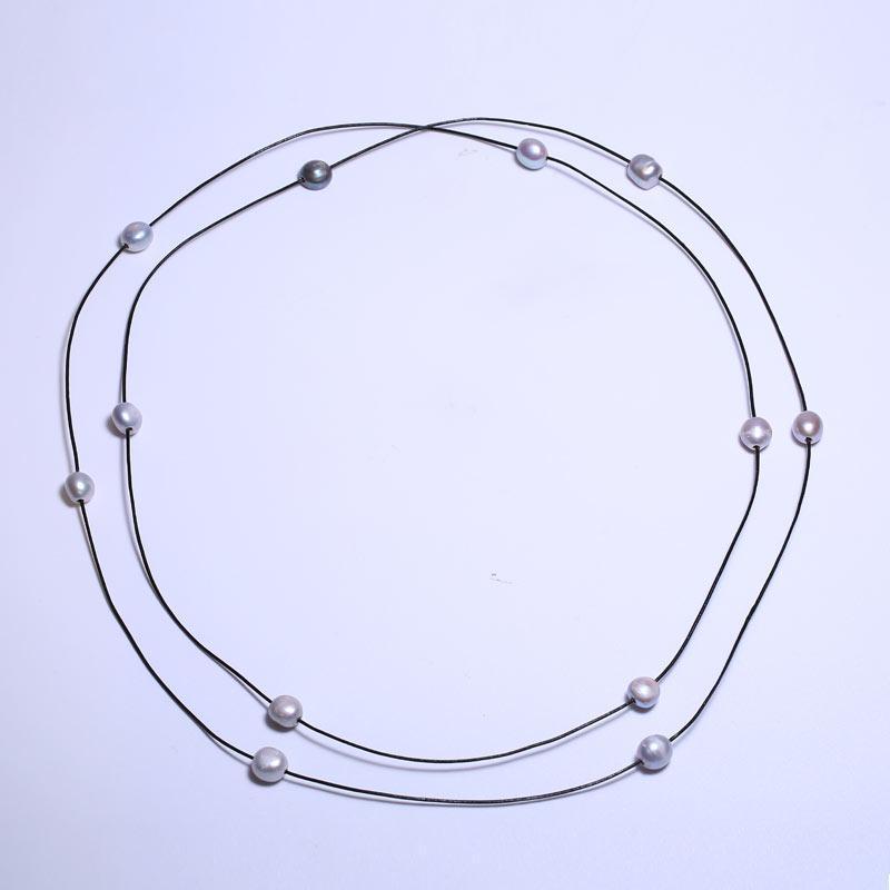Baroque 10-11 mm Baroque Perles Sautoir 160 cm, Partout dans le ciel Star, la longueur de colocalisation en option