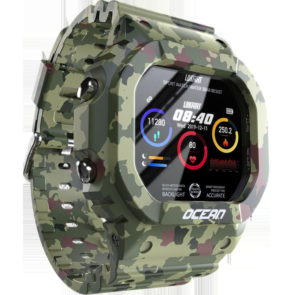 New Smart Watch Men LOKMAT Ocean Heart Rate Monitor Smartwatch Military Sports Fitness Rugged Outdoor Clock Arabic Dropshiping