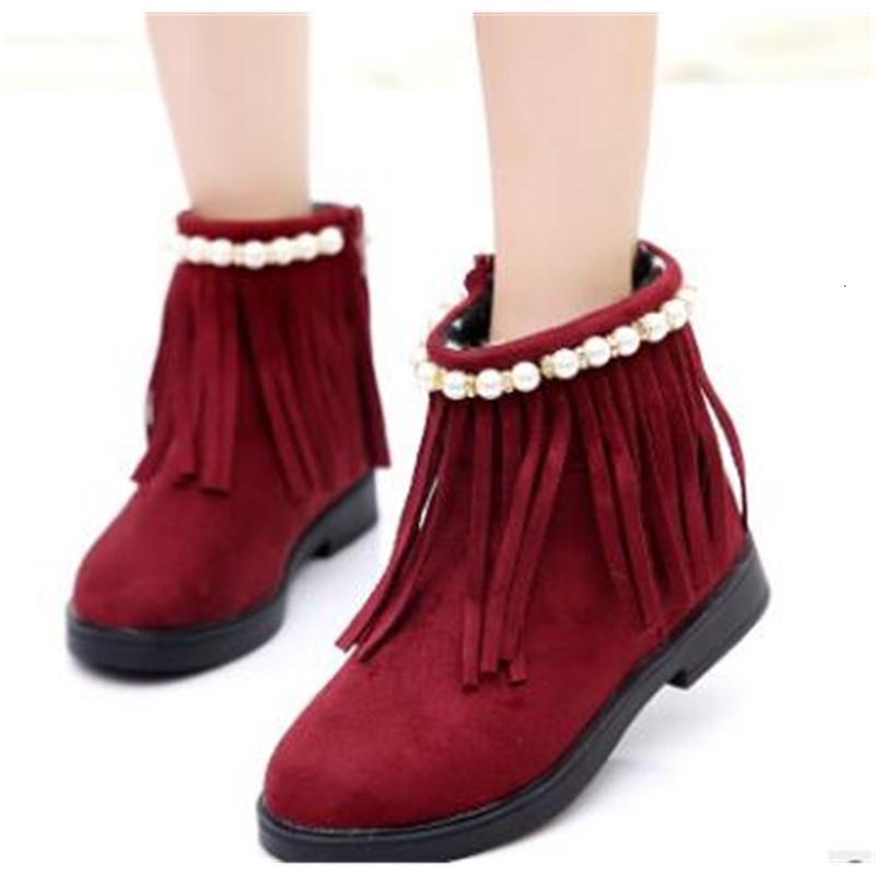 hnew kış kız kar botları, çocuk ayakkabıları, iç deriyle su geçirmez ayakkabılar