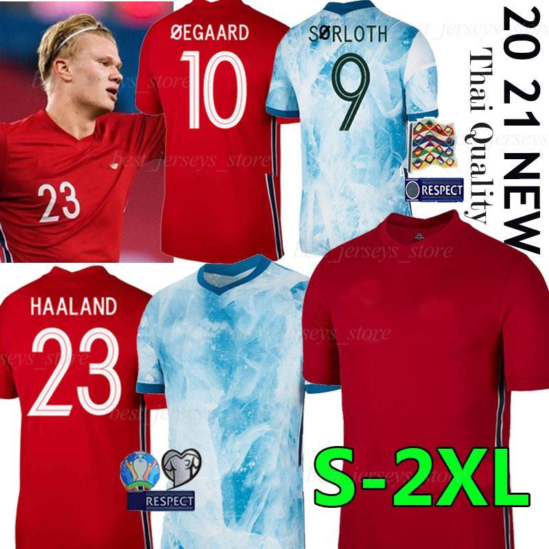 هالاند 2020 2021 NOR فريق كرة القدم الوطنية الفانيلة اوليفال ÖDEGAARD SÖRLOTH نورمان Noreg الرئيسية وهناك طريقة لكرة القدم الزي الرسمي لقمصان MAN