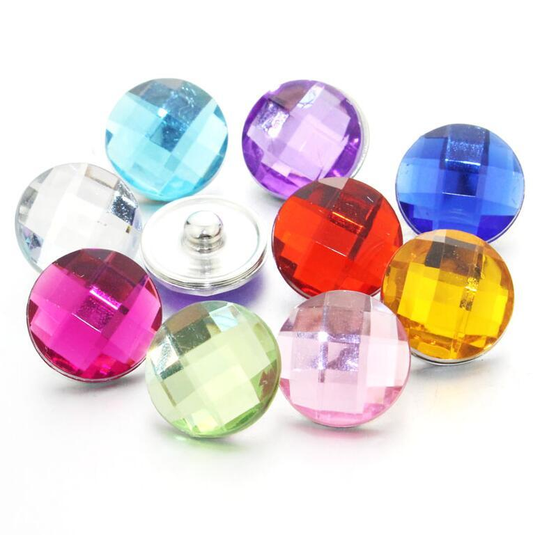 colorful 10pcs/lot mixing 18mm snap button jewelry Resin snap button pression bijoux watches women charm bracelet ps0441