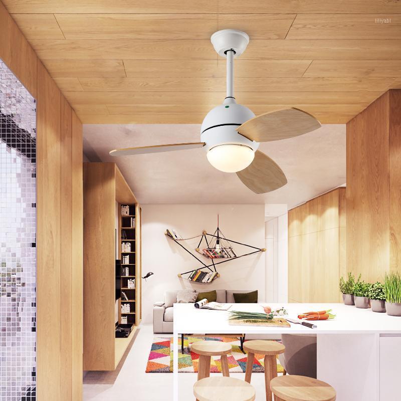 Europeu LED Fan Lâmpada Lâmpada Living Sala de Jantar Quarto Simples Decoração Casa Crianças Sala Silenciosa Controle Remoto Teto Light1
