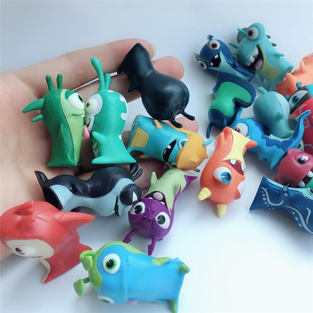 10pcs/set Slugterra Cartoon anime Action Figure PVC Slugterra Model Collection Toy Christmas Gift for Children