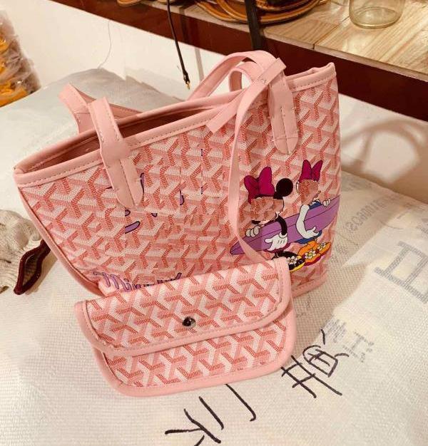 Neuer Hundezahn dongdamenKorea Hand handcarry Handtasche Sommer 2020 Graffiti bagleisure eine Schulter tragbare Taschentasche Bjgjc gedruckt